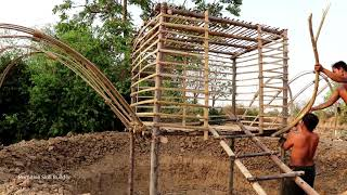 Building a Crab House Swimming Pool Under Crab House | Jungle Skills