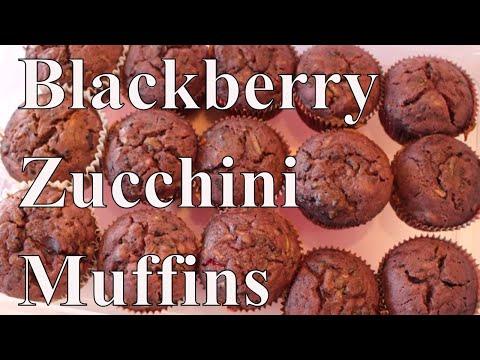BlackBerry Zucchini Muffins With Linda's Pantry