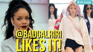 Rihanna Likes SNSD Hyoyeon