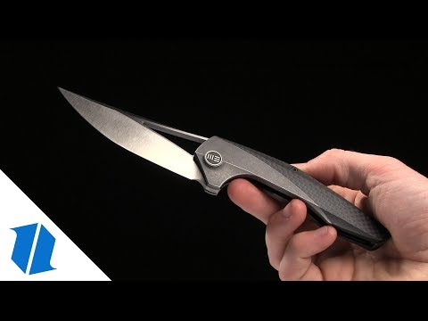 "WE Knife Co. Isham Zeta Knife Carbon Fiber/Titanium (3.65"" Satin) 720A"