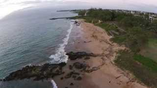 preview picture of video 'DJI phantom 2 vision + kam 3 kihei maui hawaii at sunset'