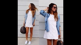Casual Dress And Sneakers Outfits