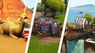 Fortnite Battle Royale - Camel, Viking Ship & Crashed Battle Bus Locations (Season 6 Challenge)
