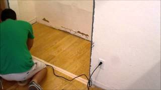 DIY Removing A Section Of Laminate Flooring With A Multi Tool