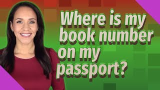 Where is my book number on my passport?