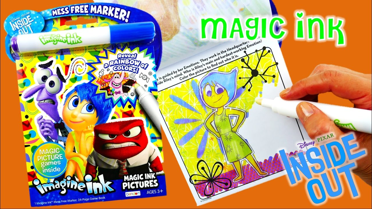 NEW Disney Inside Out Imagine Ink Coloring Book Rainbow Color Pen Surprise  | Evies Toy House