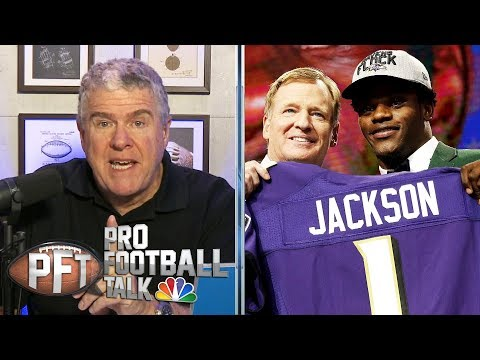 Why did Ravens' Lamar Jackson fall so far in the 2018 NFL draft? | Pro Football Talk | NBC Sports