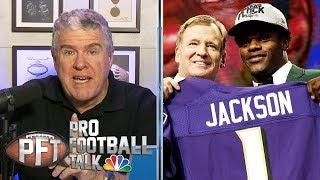 Why did Ravens' Lamar Jackson fall so far in the 2018 NFL draft? | Pro Football Talk | NBC Sports