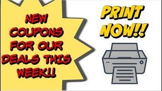 NEW PRINTABLE COUPONS | REDPLUM COUPONS & SAVINGSTAR UPDATES!