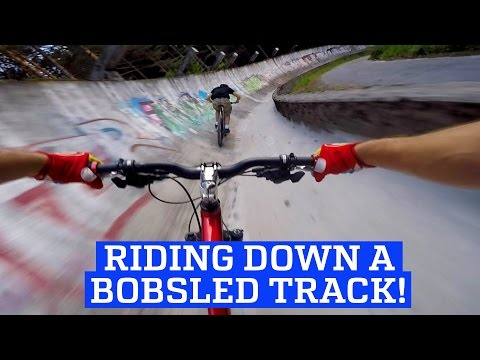MTB Downhill Mountain Bike on a Bobsled Track! | People Are Awesome 2017