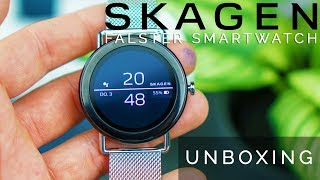 Skagen Falster Unboxing: Eine unglaublich schöne Android Wear Smartwatch deutsch