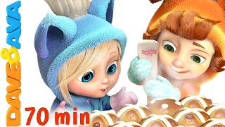 🥐 Hot Cross Buns | Nursery Rhymes and Kids Songs | Children Rhymes from Dave and Ava 🥐