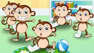 დახტის 5 მაიმუნი ფერად საწოლზე, სიმღერა მაიმუნებზე