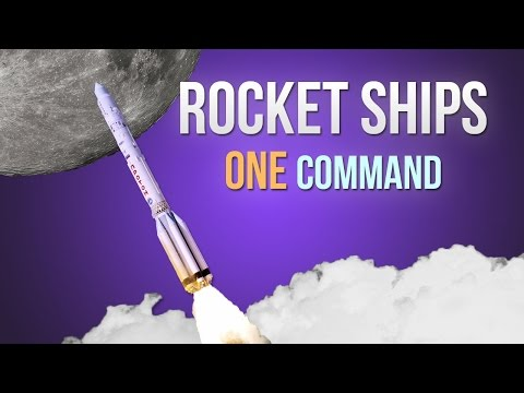 Rocket Ships In One Command Minecraft Project