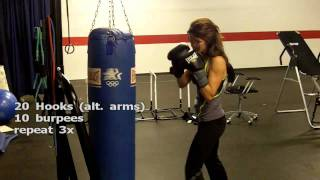 Heavy Bag Workout with Jessica by Jeff Pelizzaro
