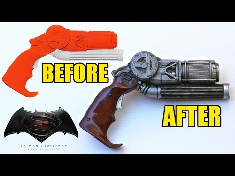 Rubies Dawn of Justice Batman Grappling Gun Makeover- Quick Custom Collectable!