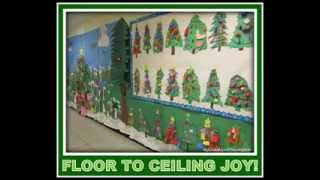 DIY Christmas Bulletin Board Decorating Ideas