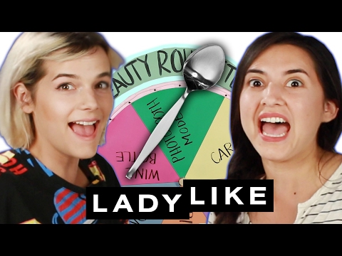 Ladylike Tries The Extreme No Mirror Makeup Challenge • Beauty Roulette