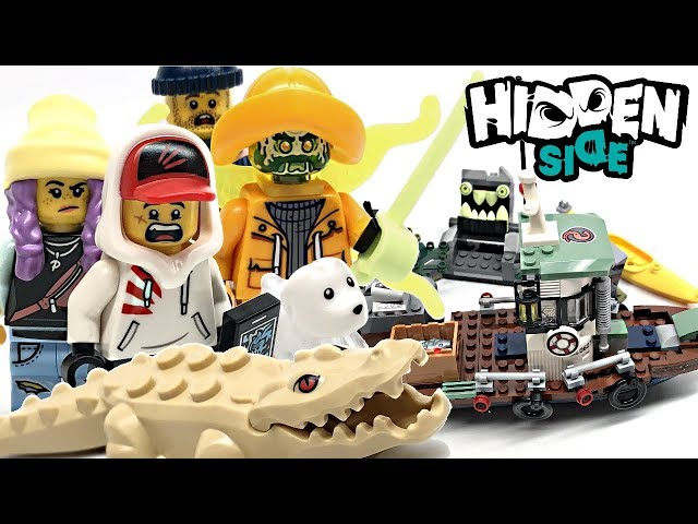 LEGO Hidden Side Wrecked Shrimp Boat review! 2019 set 70419!
