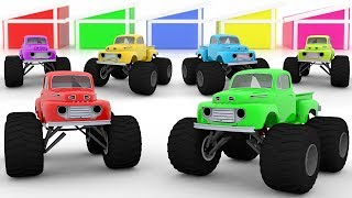 SuperKids Tv - Kids Surprise Color Learning - Monster cars