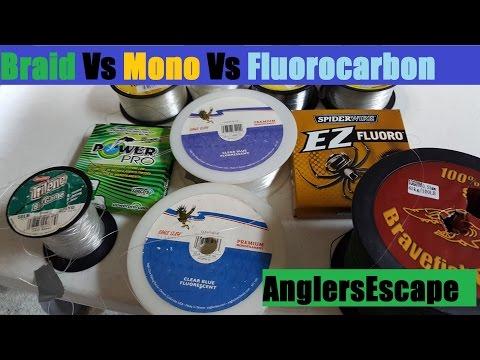 Braid Vs Mono Vs Fluorocarbon – Best  Fishing Line Type – Full Comparison / Review