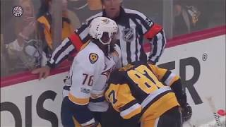 Sidney Crosby and P.K Subban fighting each others