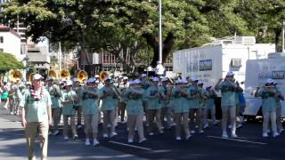 preview picture of video 'Washington All-State HS Marching Band | 2012 King Kamehameha Celebration Floral Parade'
