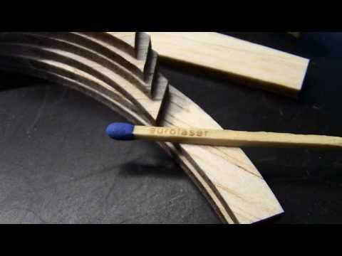 Laser cutting of balsa wood | Laser cutting