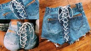 DIY SamariaLeah INSPIRED LACE UP SHORTS ✂️ NO SEW | BEGINNER FRIENDLY