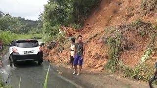 Waspada Empat Titik Longsor di Jalan Raya Pulau Beringin OKUS