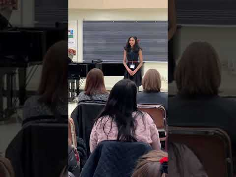 Congratulations to Avantika14 years old on winning 1st place at Cal Western regional NATS auditions!