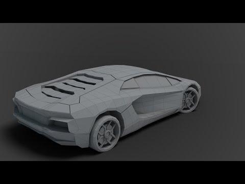Modeling low poly Lamborghini 3DS Max beginner tutorial part – 1