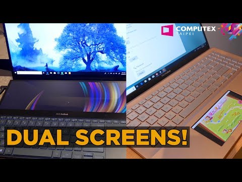 Computex 2019: ASUS ZENBOOK PRO DUO - DUAL screen laptop