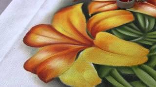 Pintura de um lindo lírio amarelo parte 2