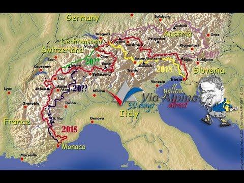 Red Via Alpina: 107 dni Alp / 107 days of Alps (HDV 1280x720) Thru-Hike Trail Documentary
