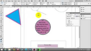 InDesign - Creating shapes and adding text