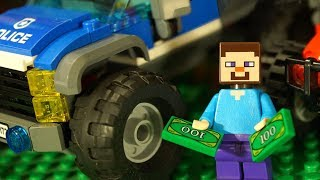Лего НУБик Майнкрафт Полицейский и Машинки Мультфильмы и Мультики LEGO Minecraft Видео для Детей