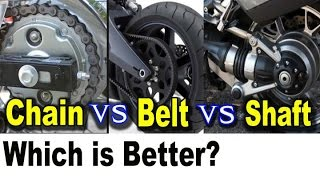 Motorcycle Chain vs Belt vs Shaft Drive Pros Cons - Which is Better?
