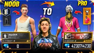 Free Fire Noob Account To *Pro* Challenge 😍  Buying 20,000 Diamonds In 8 Minutes- Garena Free Fire