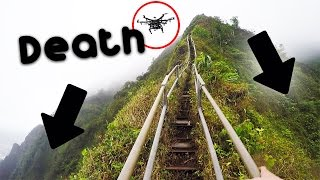Dangerous illegal hike - Haiku stairs / Stairway to heaven + DRONE