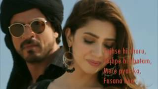 Zaalima | Raees | VIDEO LYRICS | Shah Rukh Khan & Mahira