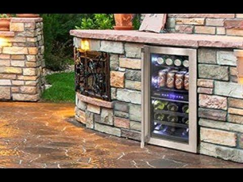 Vinotemp 15-Inch Outdoor Dual-Zone Wine & Beverage Cooler
