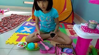 COOKING KITCHEN PLAYSET FOR KIDS (CHƠI NẤU ĐỒ ĂN KHI ĐI CẮM TRẠI CUỐI TUẦN) * BAO MINH CHANNEL *