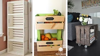 25 Wood Crate Storage Ideas