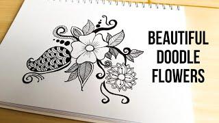 Beautiful Doodle Flowers    Doodle Art