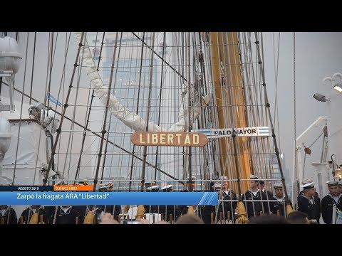 La fragata ARA Libertad inició su 48º viaje de instrucción