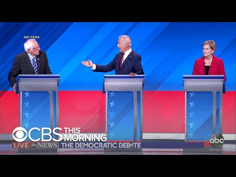 Center and left-wing Democrats face off in third debate