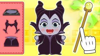 BEBES ALEX Y LILY 👑 Lily se disfraza de Maléfica | Villanos de Disney Princesas