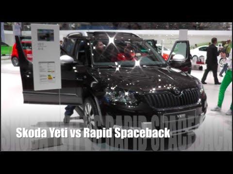 Skoda Yeti vs Rapid Spaceback