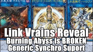 Link Vrains Pack Burning Abyss IS BROKEN AGAIN! Lightsworn Powers Up! Generic Synchro Support!